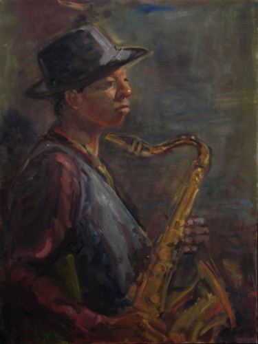 The Saxophonist  24 x 18